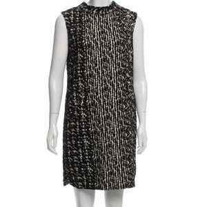Oscar de la Renta Wool-Blend Shift Dress 8
